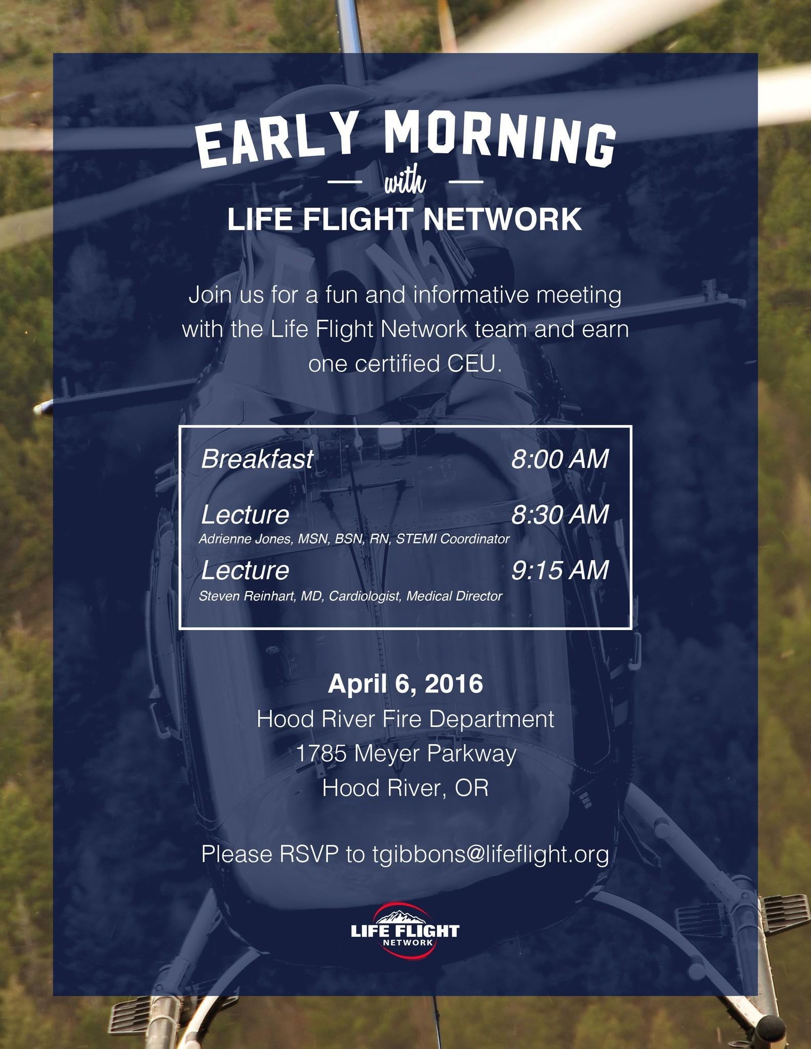 Early Morning with Life Flight Network: Hood River 4/6/16