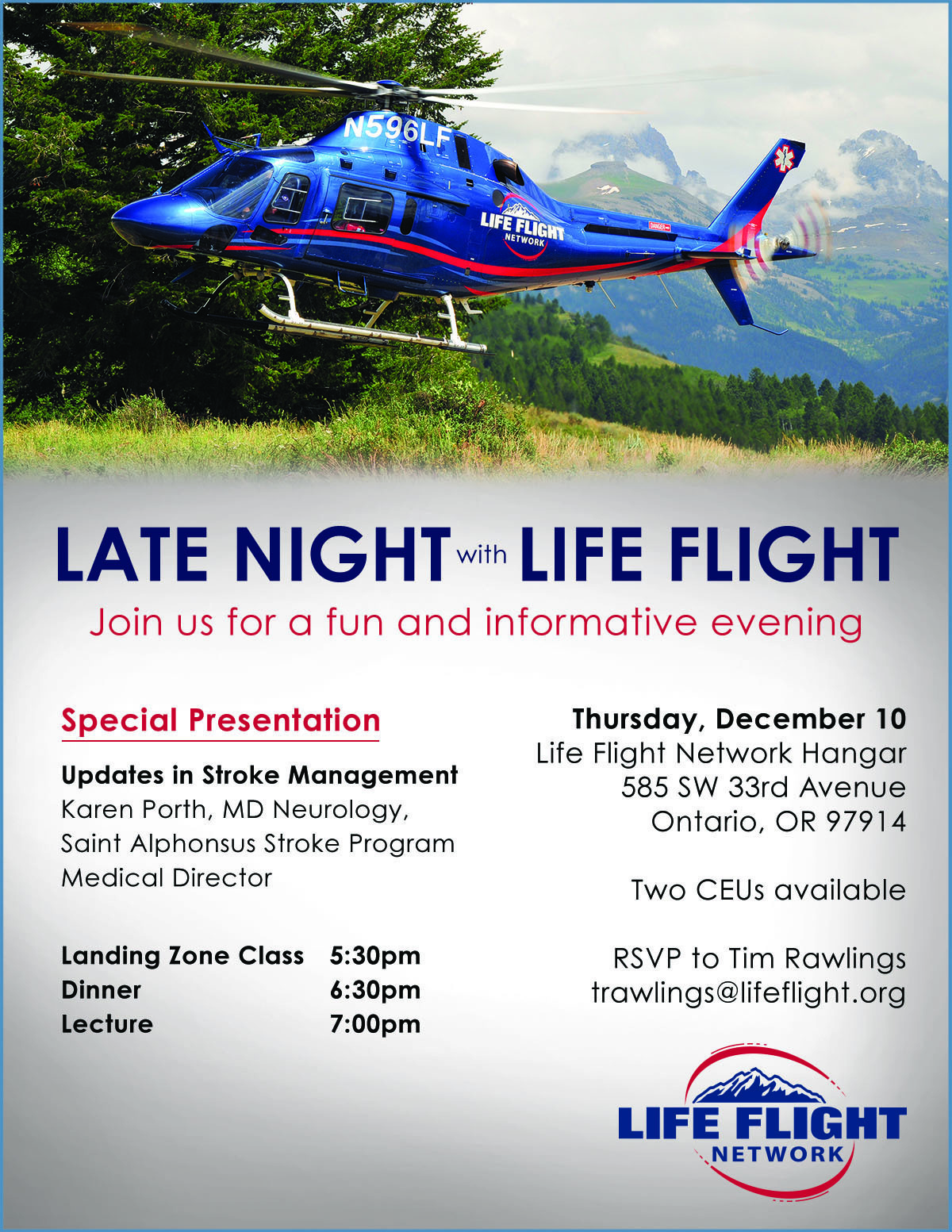 Late Night With Life Flight Network: Ontario, OR 12/10/15