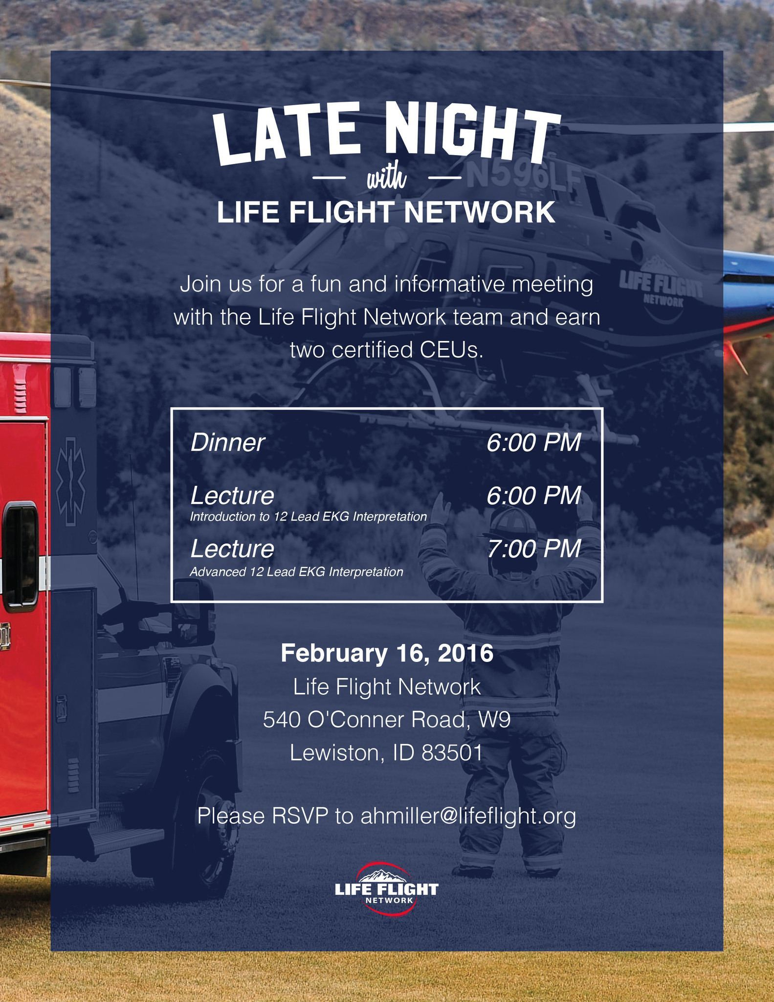 Late Night With Life Flight Network: Lewiston 2/16/16