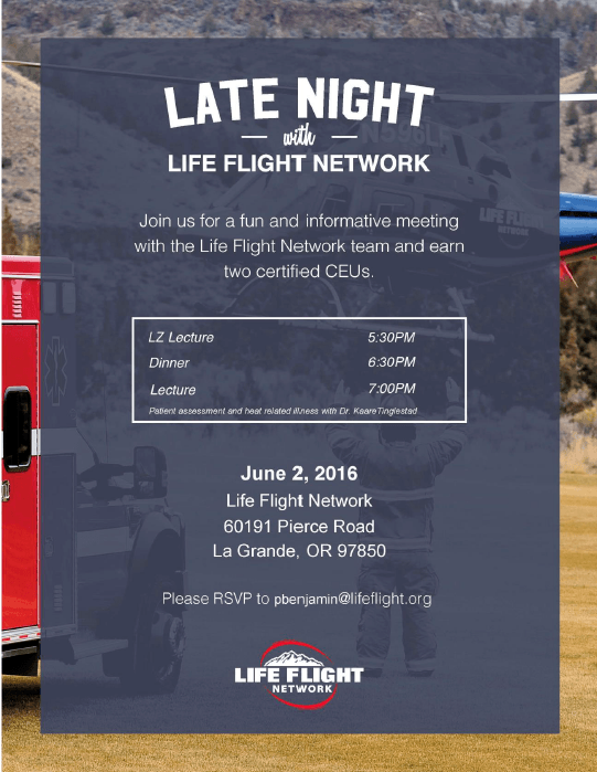 Late Night with Life Flight Network